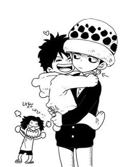 Ace Luffy and Law