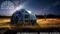 6m Glass dome house - Living dome homes for sale - Geodesic glass dome with aluminum door - Glamping domes for sale - Garden igloo geodesic dome - Igloo hotel - Glass dome hotel - Shelter Dome (1)