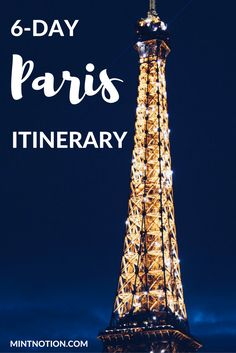 6-day Paris itinerary. Perfect guide for first-time visitors on a budget or…