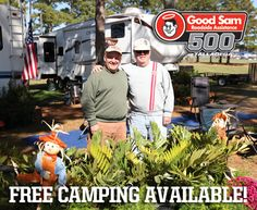 Change your address to Speedway Blvd. for the Good Sam Roadside Assistance 500 weekend! FREE camping available!    THIS IS MORE THAN A RACE...    Call --> 877.Go2.DEGA