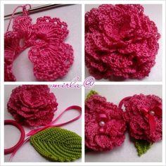 Crochet carnation flower patterns for mother s day – Artofit Crochet Leaves, Crochet Motifs, Crochet Cross, Crochet Flower Patterns, Irish Crochet, Crochet Doilies, Crochet Flowers, Handmade Flowers, Diy Flowers