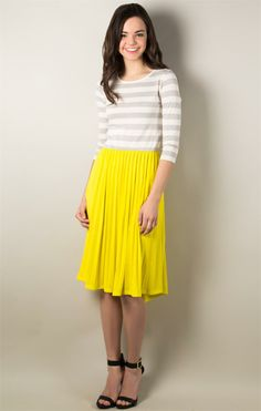 Pleated Mix Dress More