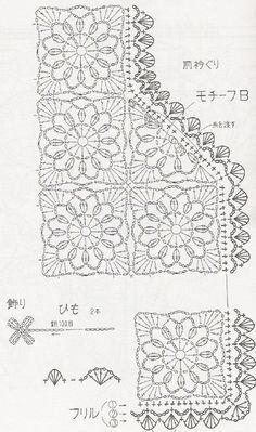 How to link openwork crochet jacket 3 of 5 * molto interessante perchè ha schema modello e le mezze piastrelle! *