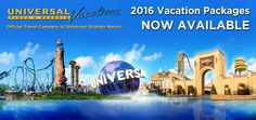 Universal 2016 Vacation Packages Now Available if you book with Officially Crowned Travel! Universal Orlando vacations feature the excitement of two amazing theme parks, unique dining and entertainment, plus much more, all in one convenient location. Contact us by email at travelroyally@officiallycrownedtravel.com for the royal treatment!