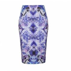 Ally Fashion Reflective floral crystal print midi skirt ($19) ❤ liked on Polyvore featuring skirts, print, white skirt, print skirt, floral skirt, floral knee length skirt and midi skirt