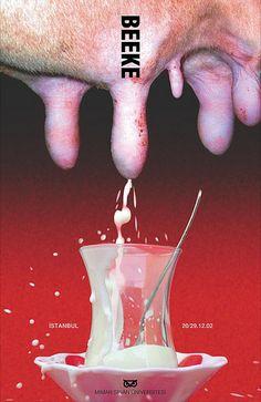 Anton Beeke in Istanbul. Poster design (2002) #shockvalueasornament #stagedphotograph