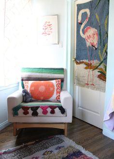 A Bohemian Nursery For A Lucky, Soon-to-arrive Baby Girl