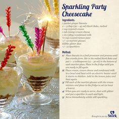 Sparkling party cheesecake