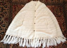 Womens 70s Poncho by lishyloo on Etsy, $15.00