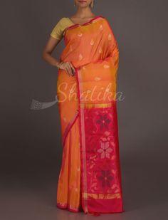 Pavitra Peach And Pink Lace Border Bloom Real Zari #UppadaSilkSaree