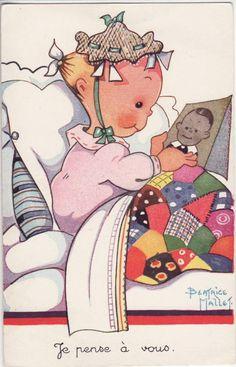 vintage - Page 11 Vintage Cards, Vintage Postcards, Childhood Stories, Vintage Fairies, Kewpie, Gif Animé, Old Dolls, Baby Art, Christmas Angels