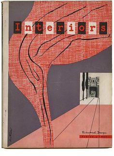 INTERIORS + INDUSTRIAL DESIGN February 1947 Cover by Ladislav Sutnar.