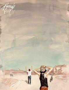 Arcade Fire - The Suburbs (2010) ~ Minimal Music Poster by Oscar Delmar