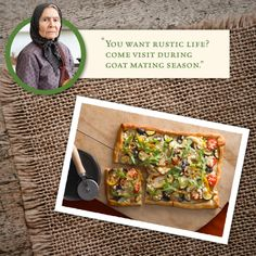 Take a page from Yiayia's book and enjoy the simple pleasures like this Rustic Veggie Pizza with Feta #Athenos