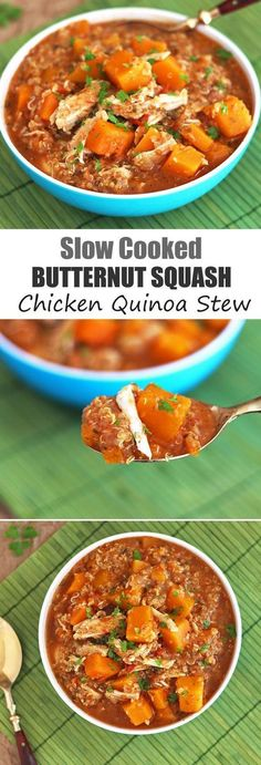 Slow Cooker Butternut Squash, Chicken and Quinoa Stew