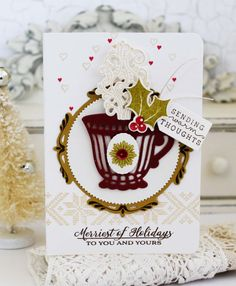 Sending Warm Thoughts Card by Melissa Phillips for Papertrey Ink (August 2016)