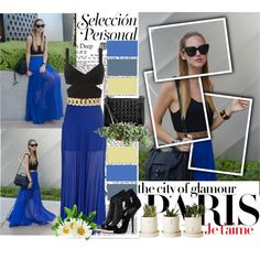 """Blue maxi"" by chareznasheer on Polyvore"