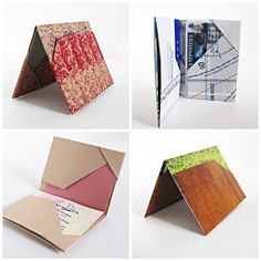 Paper folding is such a wonderful activity to try! These folded wallets are great as gift card holders too! Box Origami, Origami Wallet, Origami Cards, Origami Envelope, Paper Crafts Origami, Diy Paper, Paper Art, Oragami, Iris Folding