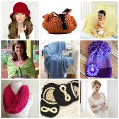 Crochet Patterns in Every Color of the Rainbow! red, orange, yellow, green, blue, pink. and even black and white!