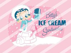 Betty Boop Edible Cake Topper Frosting 1/4 Sheet Image #59