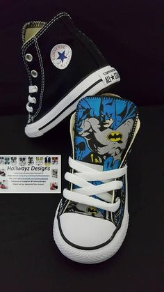 13757ad32820 Batman converse shoes batman birthday partycustom black Batman Converse