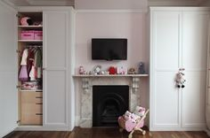 fitted wardrobes either side of chimney breast - Google Search