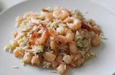 Rice with shrimps Ingredients: Rice — 200 g Cooked, frozen shrimp — 400 g Soy sauce — to taste Olive oil — to taste Ginger root — to taste Water — to taste Preparation: 1. In a heated pan with olive oil pour dry rice. Cook, stirring constantly. When the rice is ready, it will turn from transparent to white. 2. After that, pour in the rice a little boiling water and let simmer until tender. 3. Slice the root ginger and fry it on another pan, adding the soy sauce. Put back the shrimp and cook…