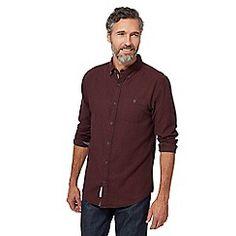 John Rocha - Big and tall dark red brushed herringbone tailored fit shirt Debenhams, Dark Red, Workout Shirts, Herringbone, Chef Jackets, Dan, Men Casual, Fitness, Mens Tops