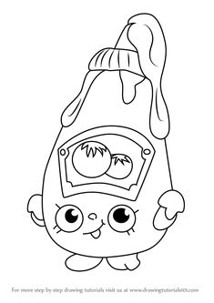 Learn How To Draw Tommy Ketchup From Shopkins Step By Drawing Tutorials Find This Pin And More On Coloring Pages