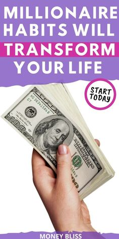 Are you ready to be a millionaire? Start your path right with these millionaire habits. Successful people don' Financial Peace, Financial Success, Finance Books, Finance Tips, Money Saving Tips, Money Hacks, Money Tips, Making A Vision Board, Extreme Couponing