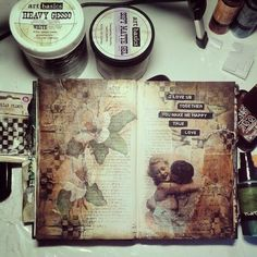 http://artistycrafty.blogspot.ie/2014/09/my-desk-and-my-art-journal-pages.html - gorgeous art journal page!