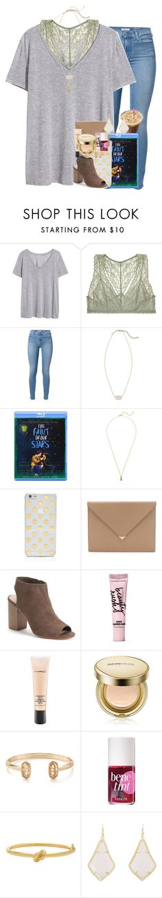 """""""happiest with a pink drink in my hand."""" by ellaswiftie13 on Polyvore featuring H&M, Victoria's Secret, 7 For All Mankind, Kendra Scott, Estella Bartlett, Kate Spade, Alexander Wang, Apt. 9, Beauty Rush and MAC Cosmetics"""