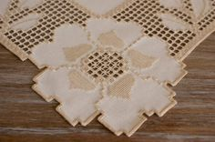 Flowers Nordic Hardanger centerpiece with solid center