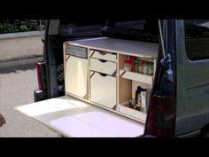 DIY Camperbox for a mini MPV - YouTube