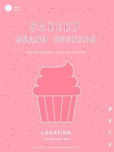 Bakery Flyer Template Bakery Flyer Templates bakery Mobile Advertising, Vector Format, Grand Opening, Flyer Template, Bakery, Custom Design, Templates, Poster