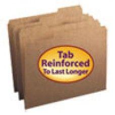 Desk Supplies>Desk Set / Conference Room Set>Holders> Files & Letter holders: Kraft File Folders, 1/3 Cut, Reinforced Top Tab, Letter, Kraft, 100/Box