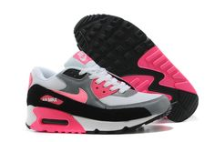 Cheap Nike Air Max 90 Essential White Pink Glow Cool Grey Wolf Grey Women's Running Shoes
