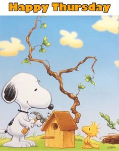 Tips And Tricks For Training Your Dog. Photo by Does your dogs behavior frustrate you? You dog might need a little more training. Snoopy Love, Charlie Brown And Snoopy, Snoopy And Woodstock, Thursday Greetings, Happy Thursday, Peanuts Cartoon, Peanuts Snoopy, Snoopy Quotes, Peanuts Quotes