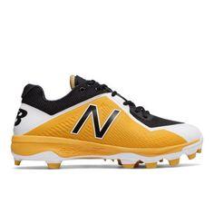 TPU 4040v4 Men's Baseball Shoes - Black/Yellow (PL4040Y4)