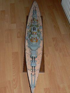 Scale Model Ships, Scale Models, Bismarck Model, Battleship, German, Color, Deutsch, German Language, Colour