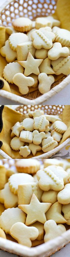 Butter Cookies – EASIEST & BEST butter cookies recipe ever! Loaded with butter, crumbly, melt-in-your-mouth deliciousness. Perfect cookies for holidays! | rasamalaysia.com