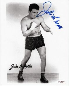 """Jake LaMotta Signed 8x10 Photograph JSA COA Raging Bull Bronx Bull . $30.00. Former World Middleweight Champion BoxerJake LaMottaHand Signed 8x10"""" Black and White PhotographLaMotta was the subject of the award winning movie """"Raging Bull"""".GREAT AUTHENTIC JAKE LAMOTTA BOXING COLLECTIBLE!!AUTOGRAPH AUTHENTICATED BY JAMES SPENCE AUTHENTICATIONS (JSA) WITH NUMBERED JSA STICKER ON ITEM AND MATCHING JSA CERTIFICATE OF AUTHENTICITY (COA) INCLUDED WITH ITEM.JSA COA #:..."""