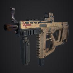 Dual Special Submachine gun, Tim XM on ArtStation at https://www.artstation.com/artwork/Rak3E