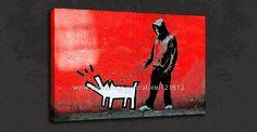 Goedkope Banksy canvas kunst rode haring hond graffiti kunst olieverfschilderijen canvas schilderij kunst aan de muur foto's voor kinderen grote indruk roo, koop Kwaliteit Schilderen& kalligrafie rechtstreeks van Leveranciers van China: van harte welkom om onze winkelThomas kinkade origineel olieverfschilderij...Met de hand gemaakte abstracte olieverfschi