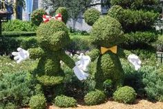 We want to work here some day as the people who do these sculptures!!  Disney World