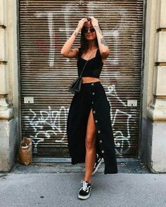 Outfits 20 Casual Spring Outfit Ideas for Women 2020 Mode casual ideas outfit Outfit ideen outfits Spring springoutfits Women womenoutfits Black Women Fashion, Look Fashion, Spring Fashion, Bohemian Winter Fashion, Summer Outfits Women, Spring Outfits, Black Summer Outfits, Winter Outfits, Summer Skirt Outfits