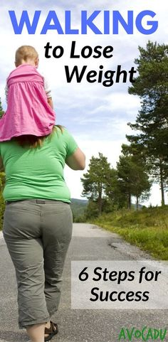 Walking to lose weight plan | 6 steps to walk to lose weight | Weight loss tips | http://avocadu.com/walking-to-lose-weight/