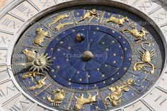 medieval astronomical clock in Venice, Italy