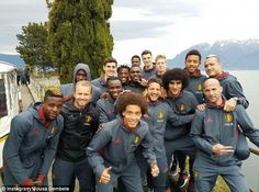 Belgium's stars enjoyed some mountain views as they continue their training in Switzerland