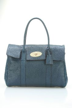 Mulberry  Bayswater Tanned Lambski Bag in Petrol